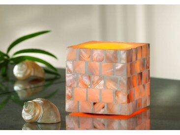 JOKA international LED Dekolicht »LED Kerze mit Muschelbesatz, 13708, 8x8x7,5 cm«
