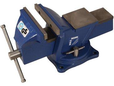 Holzmann HOLZMANN-MASCHINEN Schraubstock »WBS150N«, inkl. Drehplatte, 150 x 19 mm, blau, 150 mm, blau