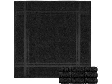 Lashuma Handtuch Set »Pure« (Spar-Set, 4-tlg), Frottee Küchentücher, Abwaschtücher aus 100% Baumwolle, schwarz, schwarz