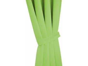 Wirth Raffhalter »DIM OUT«, Gardinen, Vorhänge, (2-tlg), grün, limone