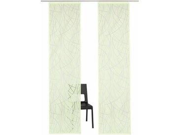 my home Selection Schiebegardine »Baruni«, Klettband (2 Stück), ohne Montagezubehör, grün, grün
