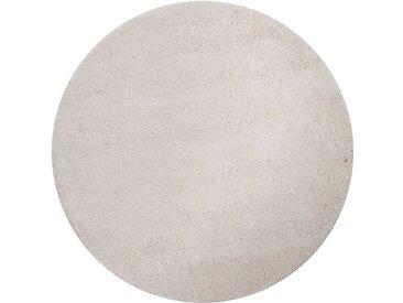 Theko Exklusiv Wollteppich »Agadir 1«, rund, Höhe 25 mm, echter Berber, reine Wolle, handgeknüpft, weiß, naturweiß