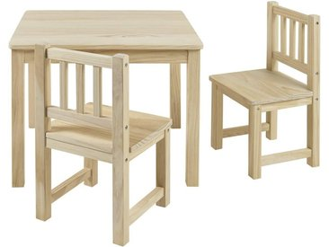 BOMI Kindersitzgruppe »Holzsitzgruppe Amy«, (3-tlg), Kindertischgruppe aus Holz (Tisch und 2 Stühle, 3-tlg)