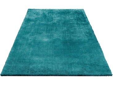 Bruno Banani Hochflor-Teppich »Dana«, rechteckig, Höhe 30 mm, Besonders weich durch Microfaser, grün, petrol