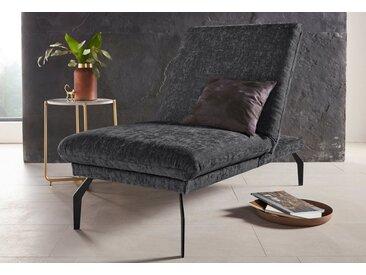 Places of Style Hockerbank »Salerno«, durch Rückenverstellung vollwertiges Sitzmöbel, grau, dunkelgrau