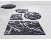 GRUND exklusiv Badematte »Torano« , Höhe 20 mm, rutschhemmend beschichtet, weiche Haptik, Marmor-Optik, grau, anthrazit