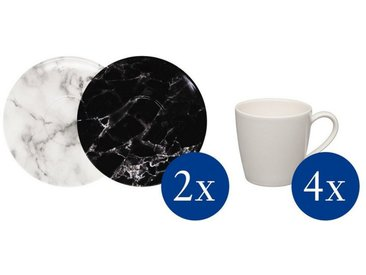like. by Villeroy & Boch Kaffeetassen-Set »Marmory«, schwarz, 255,00x210,00x220,00 mm, schwarz,weiß,grau