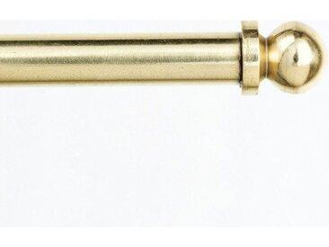 indeko Scheibenstange »Metz«, Ø 7 mm, 1-läufig, ausziehbar, gelb, glanz-messingfarben