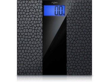 """MyBeo Digitale Körperwaage im Glas Design »3.5"""" Display / Anti-Rutsch-Oberfläche / max 180 kg«, schwarz, schwarz"""