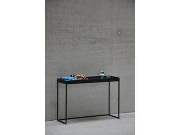 jankurtz Konsolentisch »pizzo«, in verschiedenen Gestellfarben, Breite 100 cm, braun, Gestell Stahlrohr pulverbeschichtet schwarz