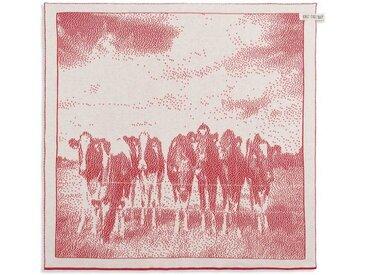 Knit Factory Tischdecke »Küchentuch Kühe Ecru/Rot«
