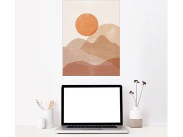 Posterlounge Wandbild, Sonnenaufgang in den Bergen, Premium-Poster