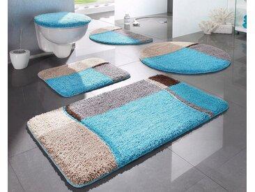 my home Badematte »Belio« , Höhe 20 mm, fußbodenheizungsgeeignet, blau, blau