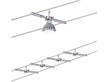 Paulmann LED Deckenleuchte »Seilsystem Togo Chrom mit 4 Spots max. 10W GU5,3«, Seilsystem, 4-flammig