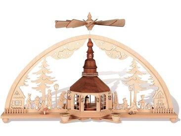 rauta Schwibbogen »Seiffener Kirche im Bogen« (1-tlg), Mit Pyramidenkerzen