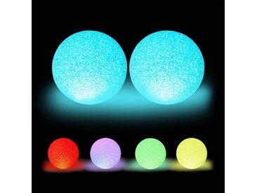 relaxdays LED Kugelleuchte »2 x LED Kugelleuchte mit Farbwechsel«