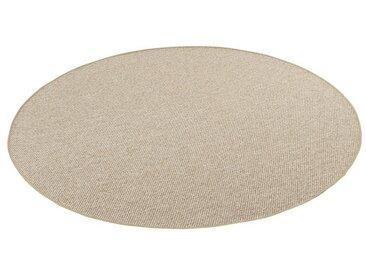 Snapstyle Designteppich »Bentzon Natur Flachgewebe Teppich Rund«, Rund, Höhe 5 mm, braun, Braun
