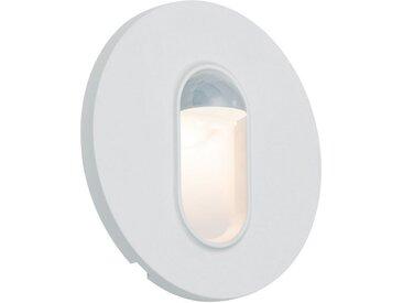 Paulmann LED Wandleuchte »Einbauleuchte rund Weiß mit Bewegungssensor Dämmerungssensor 2,7W«