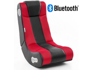 Wohnling Gaming Chair »WL8.006BT« Soundchair InGamer in Schwarz Rot mit Bluetooth Musiksessel mit eingebauten Lautsprechern Multimediasessel für Gamer 2.1 Soundsystem - Subwoofer Music Gaming Sessel Rocker Chair