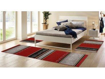 HANSE Home Bettumrandung »Ferrara« , höhe 8 mm, Kurzflor, gekettelt, rot, rot