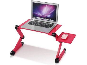 Greensen Laptoptisch, Faltbar Notebooktisch Betttisch Laptopständer PC Ständer Rot