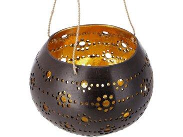Guru-Shop Windlicht »Kokosnuss Teelicht zum Hängen, Dekotopf -..«