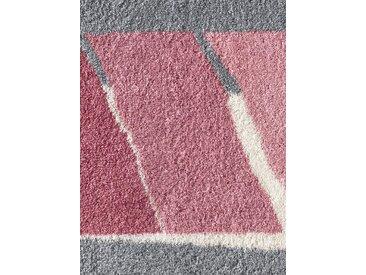 Grund Badgarnitur mit modernen Streifen, rosa, rosé