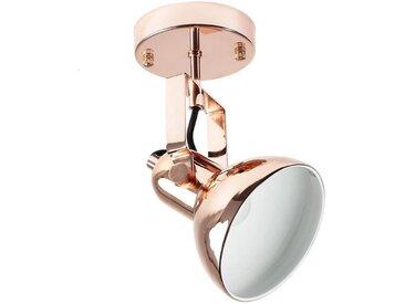 Licht-Erlebnisse Deckenstrahler »DALLAS«, Deckenleuchte Kupfer retro Spot Lampe E14 Leseleuchte Lampe