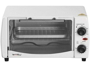 Woltu Küchenwagen, Mini Backofen mit Backblech, 800 Watt, 12 Liter
