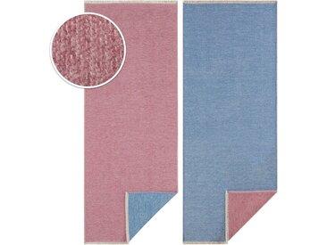 HANSE Home Läufer »Duo«, rechteckig, Höhe 7 mm, Wendetepich, Sisal-Optik, blau, himmelblau-rosa