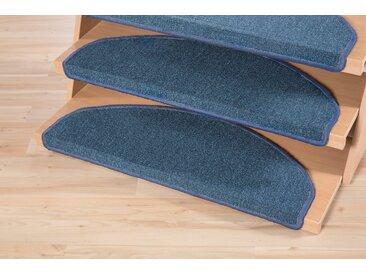 Andiamo Stufenmatte »Bob«, halbrund, Höhe 4,5 mm, Teppich-Stufenmatten, Treppen-Stufenmatten, Treppenschutz, für innen, im Set, meliert, blau, blau