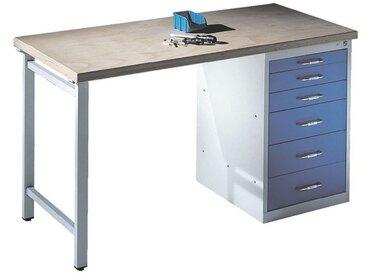 CP Werkbank mit Stand-Schubladenschrank, bunt, bunt