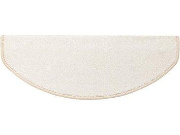 Kubus Stufenmatte »Marseille«, Halbrund, Höhe 13.5 mm, Edler Velours, weiß, Creme