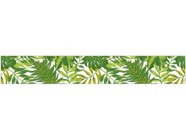 MySpotti MYSPOTTI Fensterfolie »mySPOTTI look Palm Leaves green«, 200 x 30 cm, statisch haftend, grün, 200 cm, grün/weiß