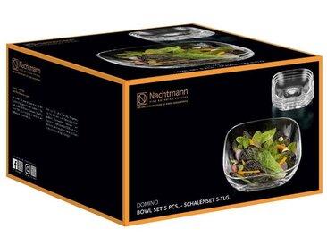 Nachtmann Geschirr-Set »Domino Bowl Vorteilsset Schalen 5-teilig« (5-tlg), Glas