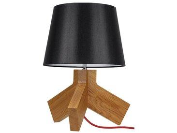 SPOT Light Tischleuchte »Tilda«, Basis aus Eichenholz, Naturprodukt mit FSC®-Zertifikat, Hochwertiger Leuchtenschirm, mit Schnurschalter An/Aus