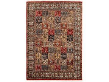 OCI DIE TEPPICHMARKE Orientteppich »Vasuki«, rechteckig, Höhe 4 mm, handgeknüpft, mit Fransen, rot, rot