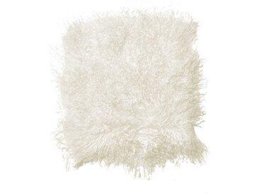 BUTLERS Stuhlkissen » TASHI Lammfell Stuhlauflage 35x35 cm«, weiß, Weiß