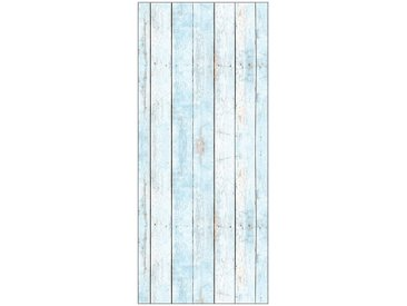 MySpotti MYSPOTTI Duschrückwand »fresh F2 Wood Light Blue«, 90 x 210 cm, blau, 90 cm, blau