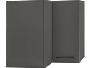 wiho Küchen Eckhängeschrank »Esbo« 60 cm breit, grau, Anthrazit/Anthrazit