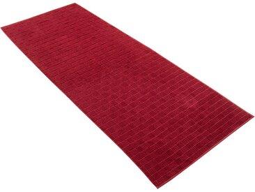 Vossen Saunatuch »Talis« (1-St), in dezentem Hoch-Tief Design, rot, rubin