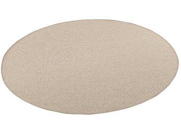 Snapstyle Designteppich »Bentzon Natur Flachgewebe Teppich Rund«, Rund, Höhe 5 mm, Karamell
