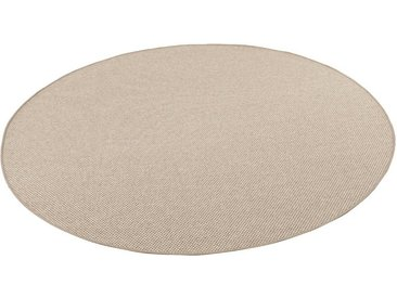 Snapstyle Designteppich »Bentzon Natur Flachgewebe Teppich Rund«, Rund, Höhe 5 mm, beige, Karamell