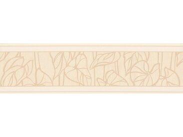 A.S. Création Bordüre »Only Borders«, strukturiert, mehrfarbig, floral, braun, beige-weiß