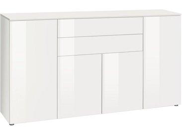 Highboard »Susa«, Breite 165 cm, weiß, weiß/weiß Hochglanz