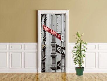 Bilderdepot24 Deco-Panel, Türaufkleber - Broadway Straßenschild