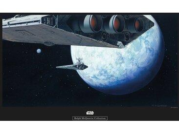 Komar KOMAR Wanddekoration »Star Wars Classic RMQ Hoth Orbit«, ohne Rahmen, bunt, 70 cm, bunt