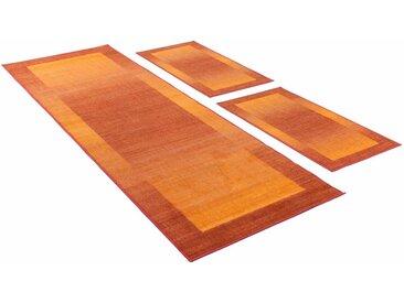 THEKO Bettumrandung »Gabbeh Ideal« , höhe 6 mm, (3-tlg), getuftet, natur, rostbraun