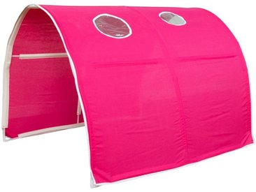 Homestyle4u Betttunnel, Tunnel Zelt Bettzelt Bettdach Spieltunnel, rot, pink