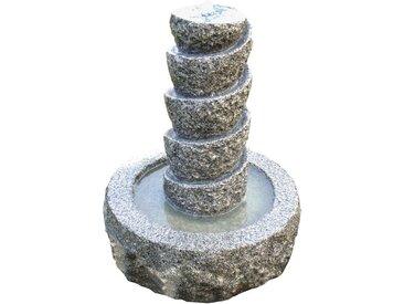 Dehner Gartenbrunnen »Drill inkl. LED, Ø 45 cm, Höhe 55 cm, Granit«